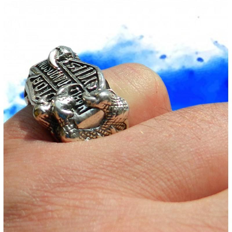 Harley Davidson Solid Sterling Ring, Biker, Motorcycle