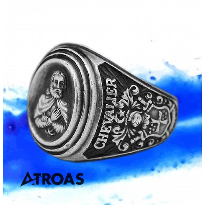 Demolay Chevalier Solid Sterling Ring, Chevalier DeMolay