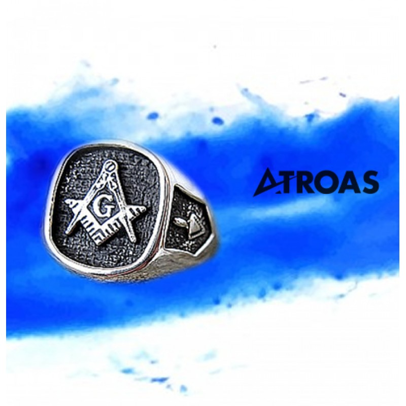 Masonic Ring, 950K Solid Sterling Silver, Master Mason 3rd Degree